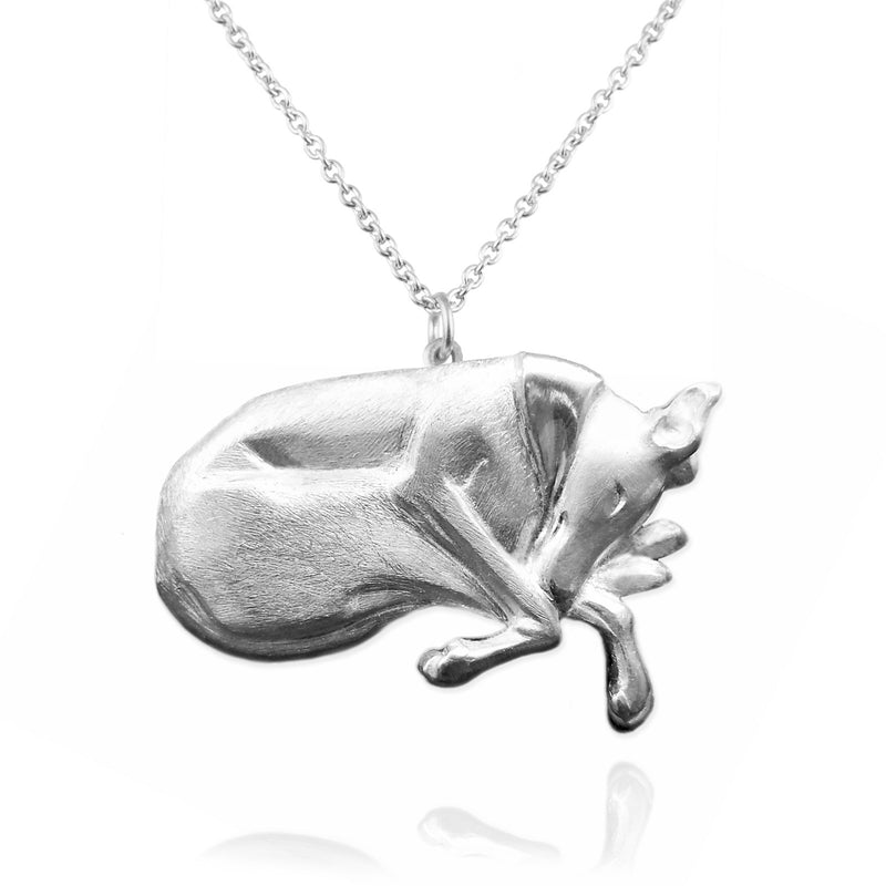 Greyhound / Whippet Pin or Necklace