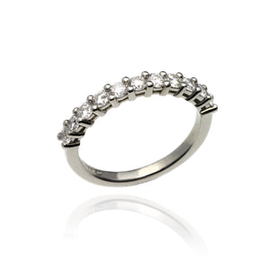 Platinum and Diamonds Half Eternity Ring