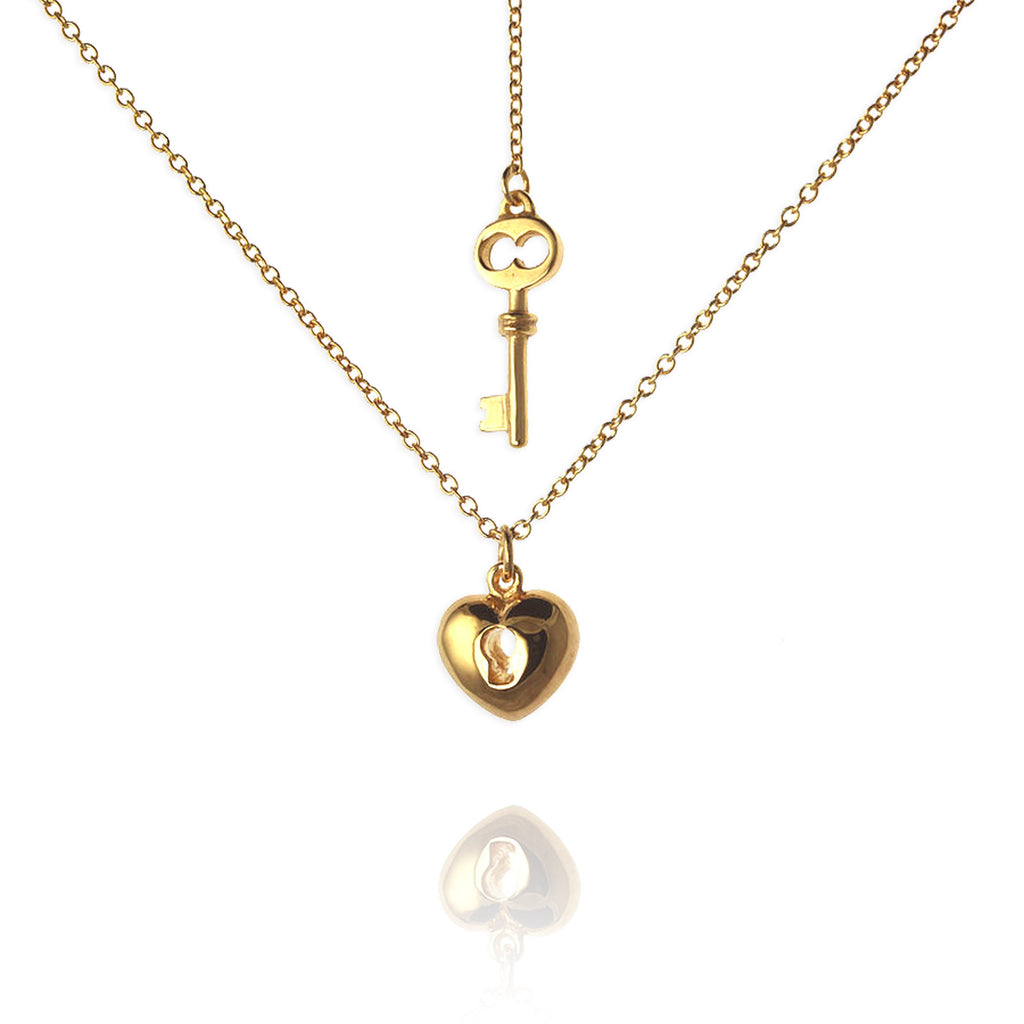 Heart and Key Necklace - Jana Reinhardt Ltd - 3
