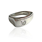 Chunky Platinum and Diamonds Ring