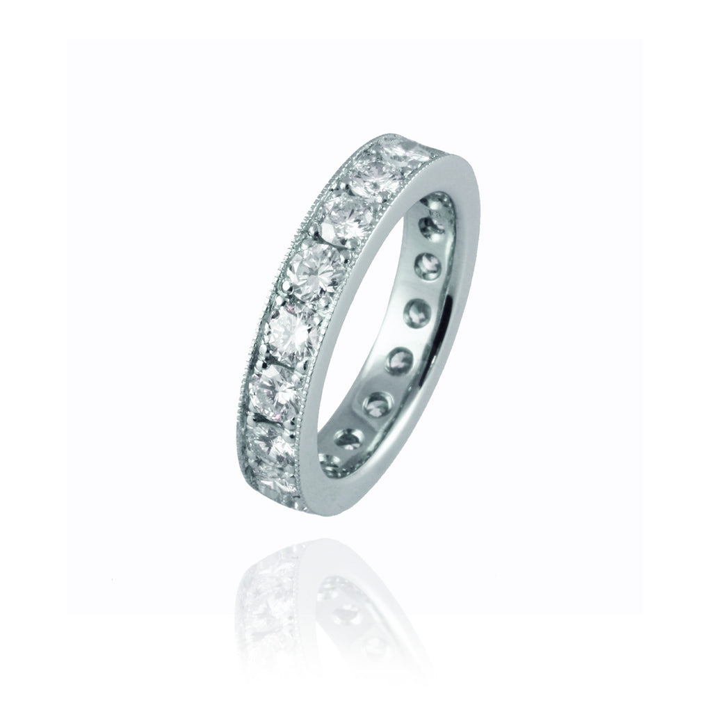 Large Platinum and Diamonds Eternity Ring