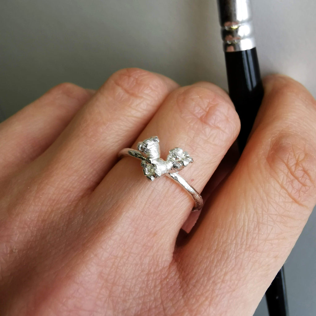 Lily of the Valley Ring - May Birth Flower Ring