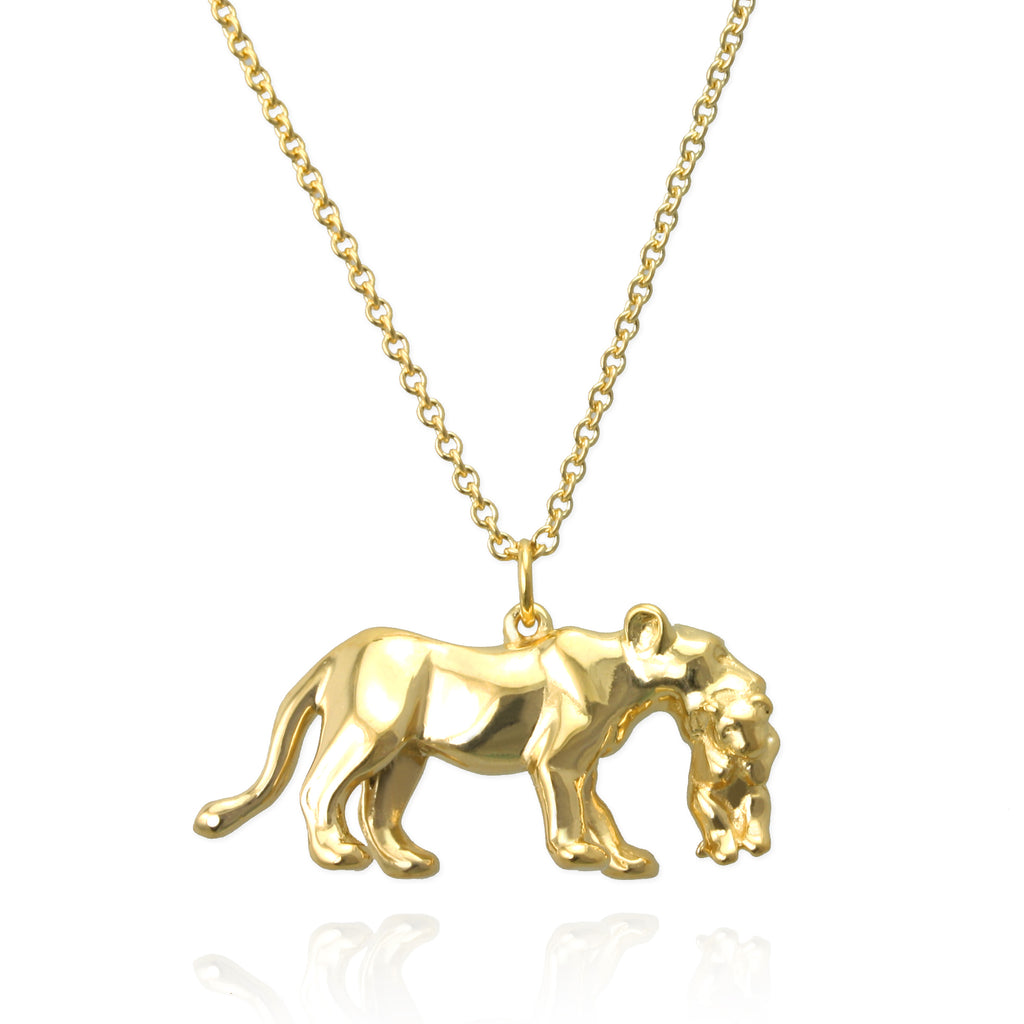 Lioness and Cub Necklace