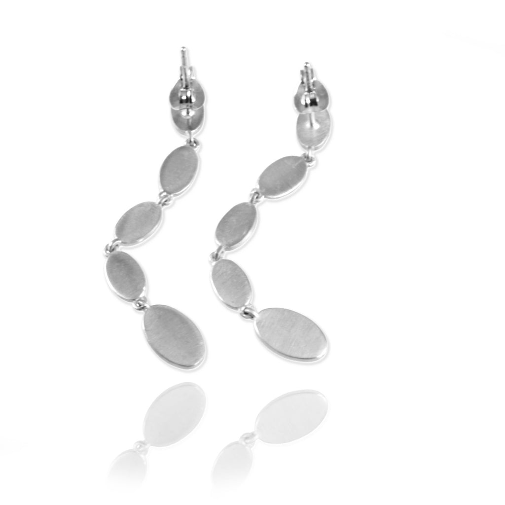Long Ellipse Ear Studs - Jana Reinhardt Ltd - 5