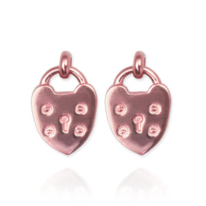 Padlock Heart Earrings