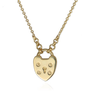 Padlock Heart Necklace