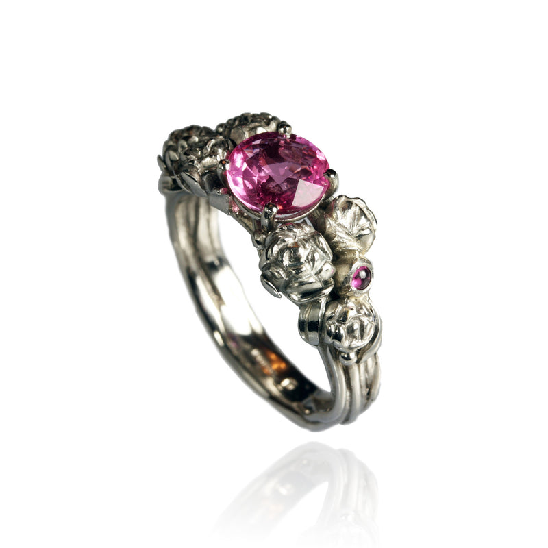 Platinum Ring with Pink Sapphires