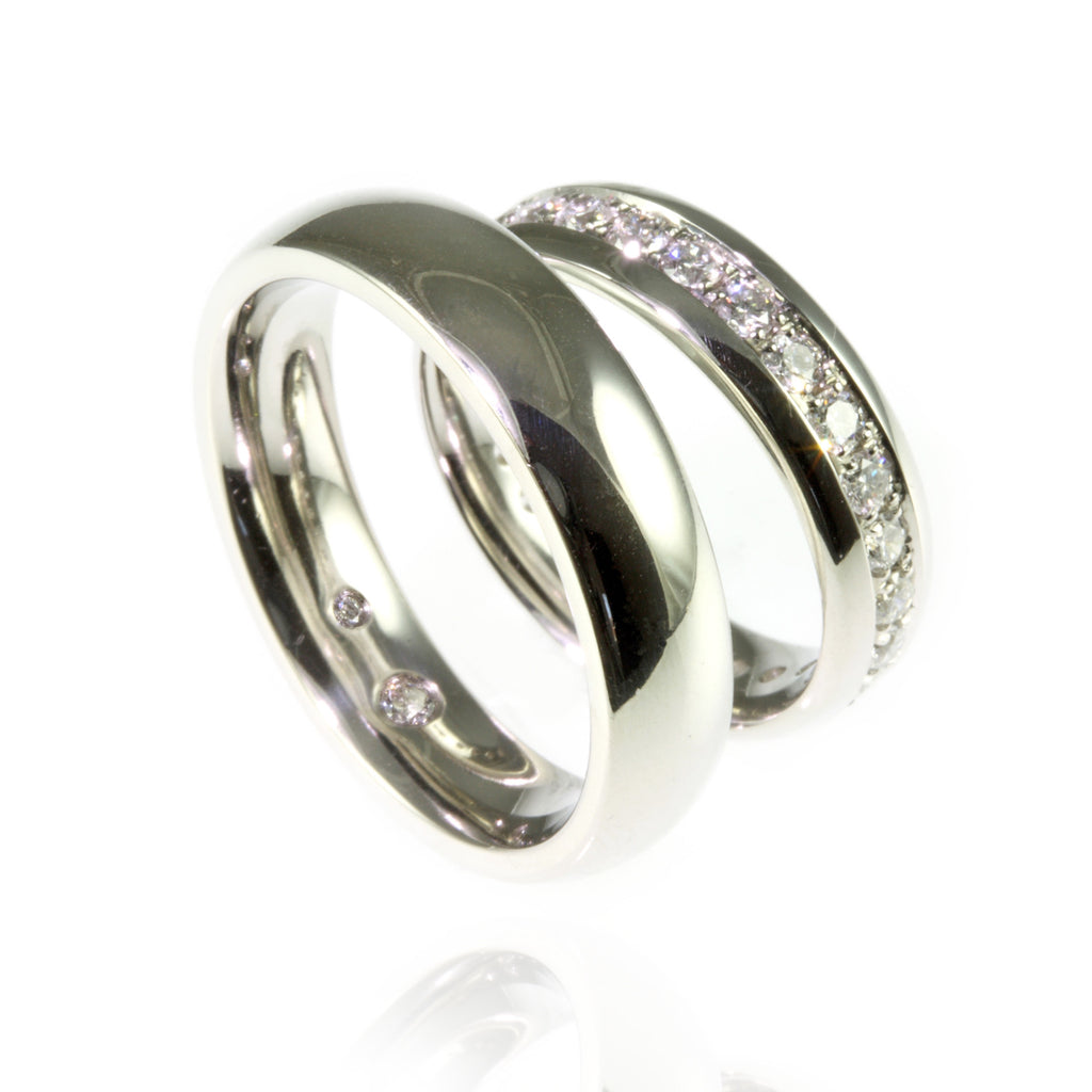 Platinum and Diamonds Wedding Bands