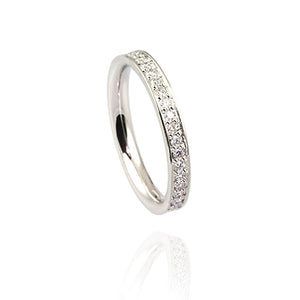 Platinum Eternity Ring with Diamonds