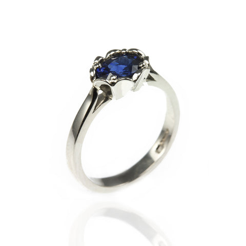 Platinum and Sapphires Ring