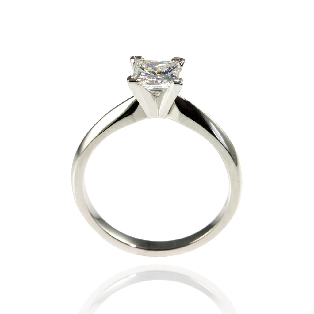 Platinum with Princess Cut Diamond Ring