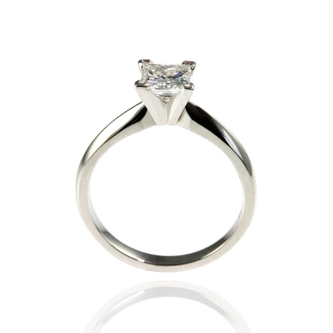 Diamond Engagement Ring with Diamond Shoulders