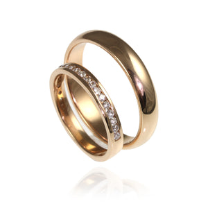 18ct Rose Gold and channel set Diamonds