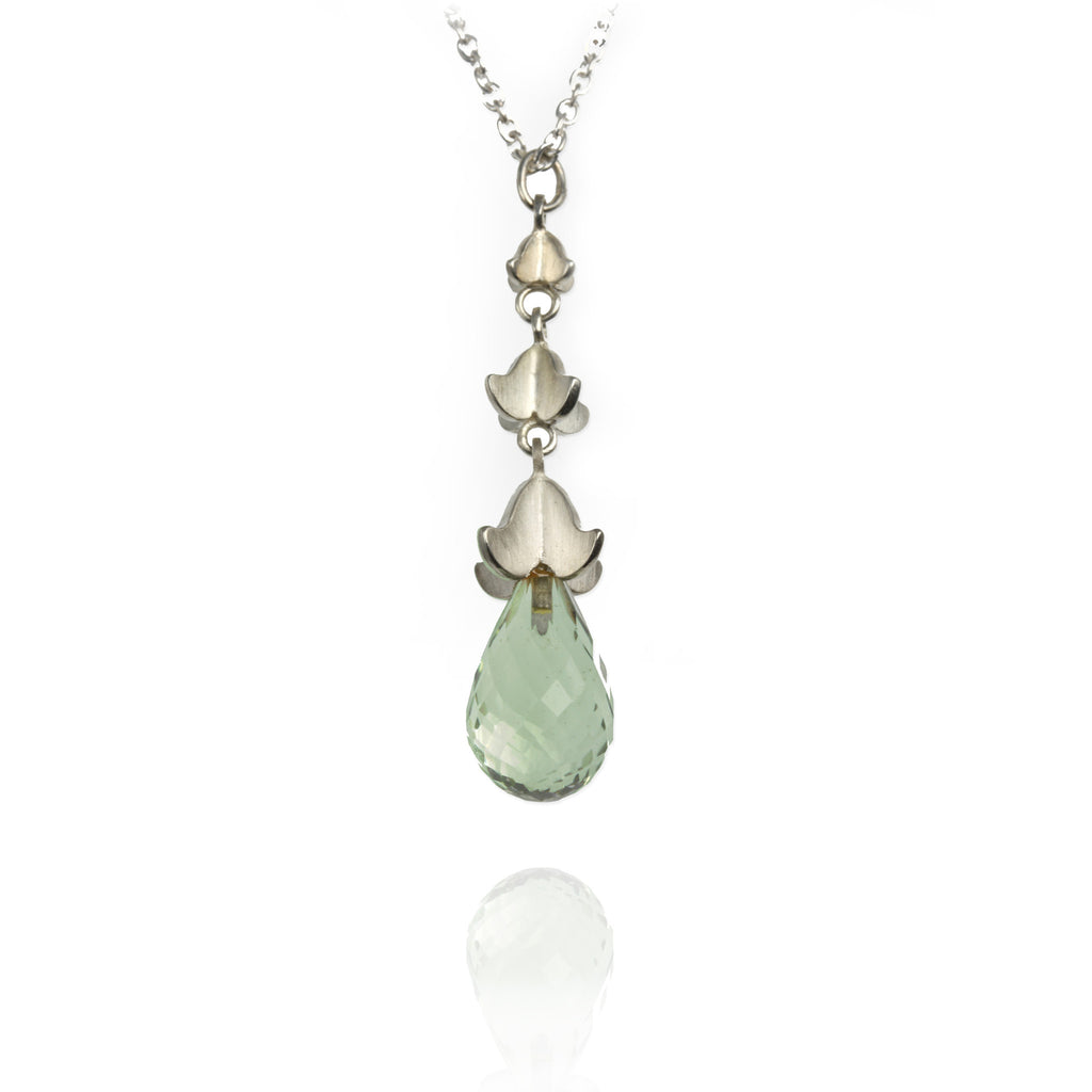 Rock Flower Drop Pendant - Jana Reinhardt Ltd - 3
