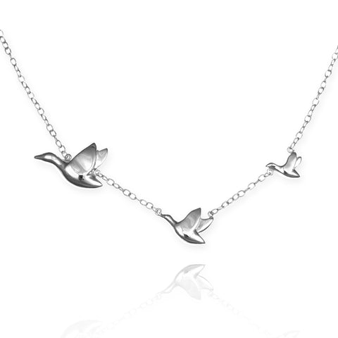 Flying Ducks Necklace