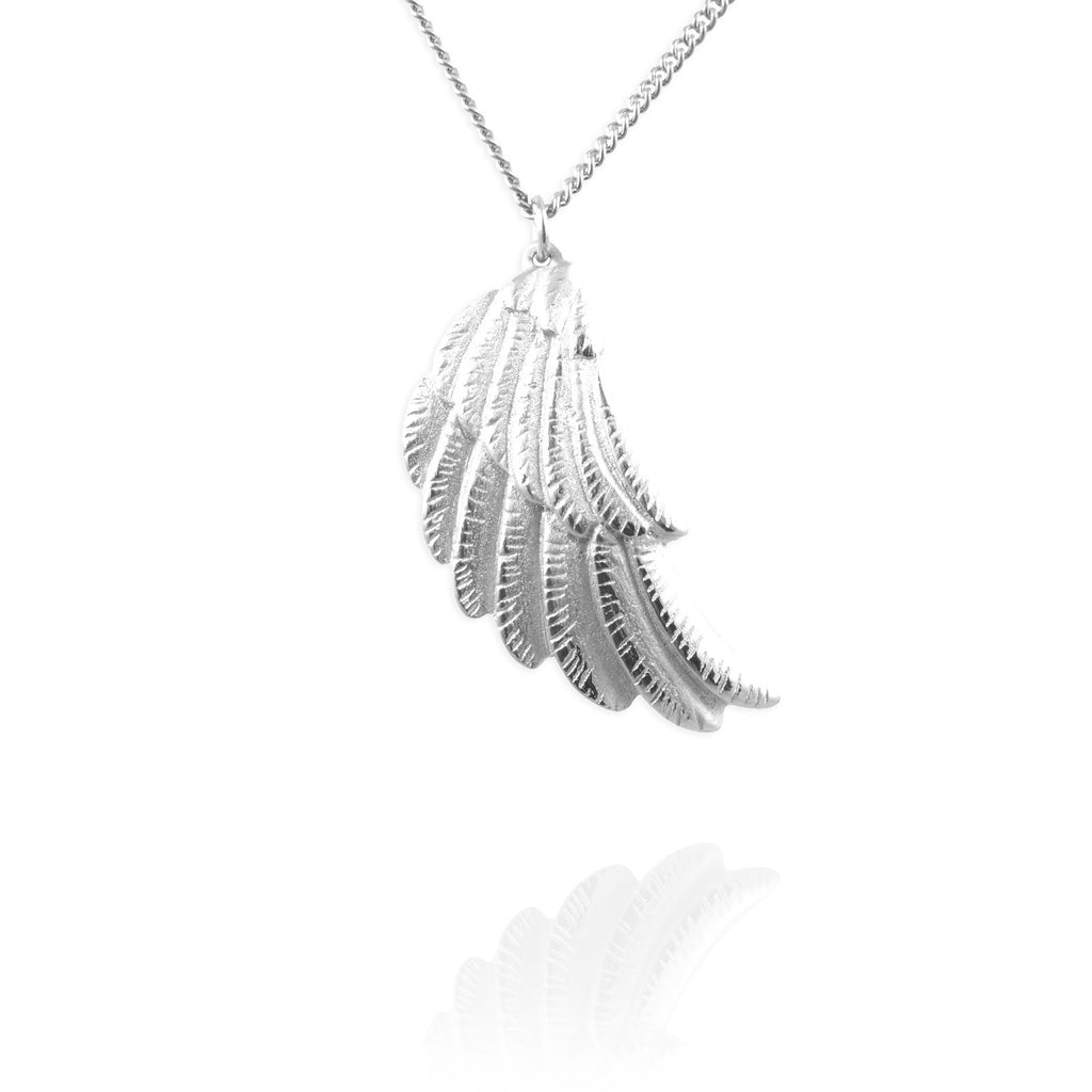 uniqsum charms product sterling silver feather wing black zirconia pendant cubic wbz