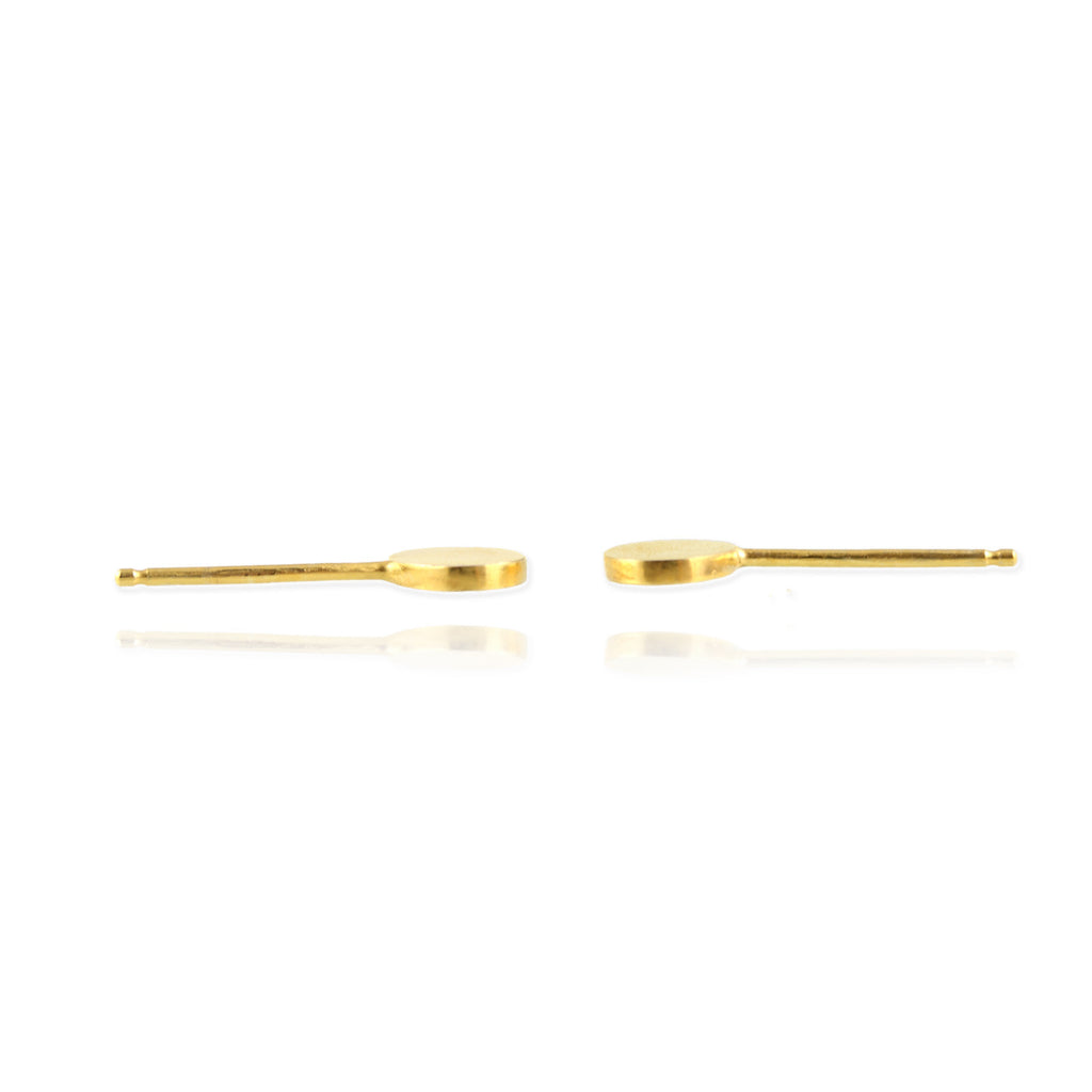 Single Ellipse Ear Studs - Jana Reinhardt Ltd - 4