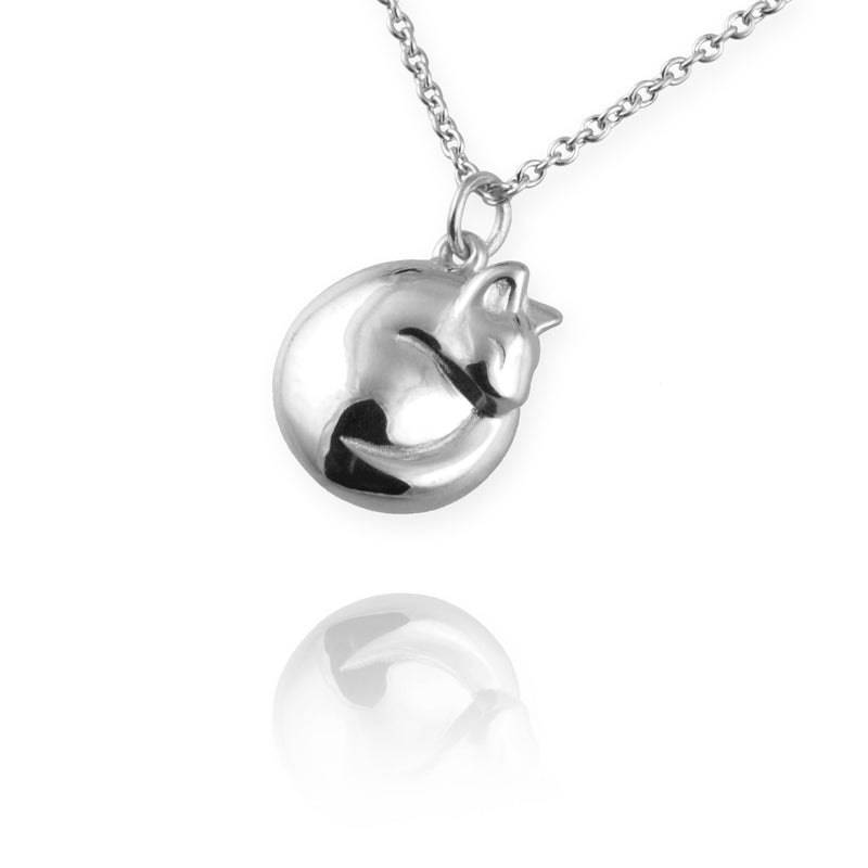 Cat Necklace (Curled up) - Jana Reinhardt Ltd - 1