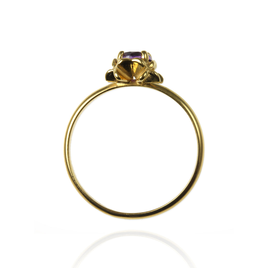 Small Rock Flower Ring with Amethyst - Jana Reinhardt Ltd - 4