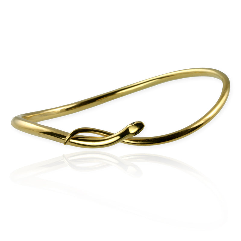 Snake Bangle with black diamonds - Jana Reinhardt Ltd - 1