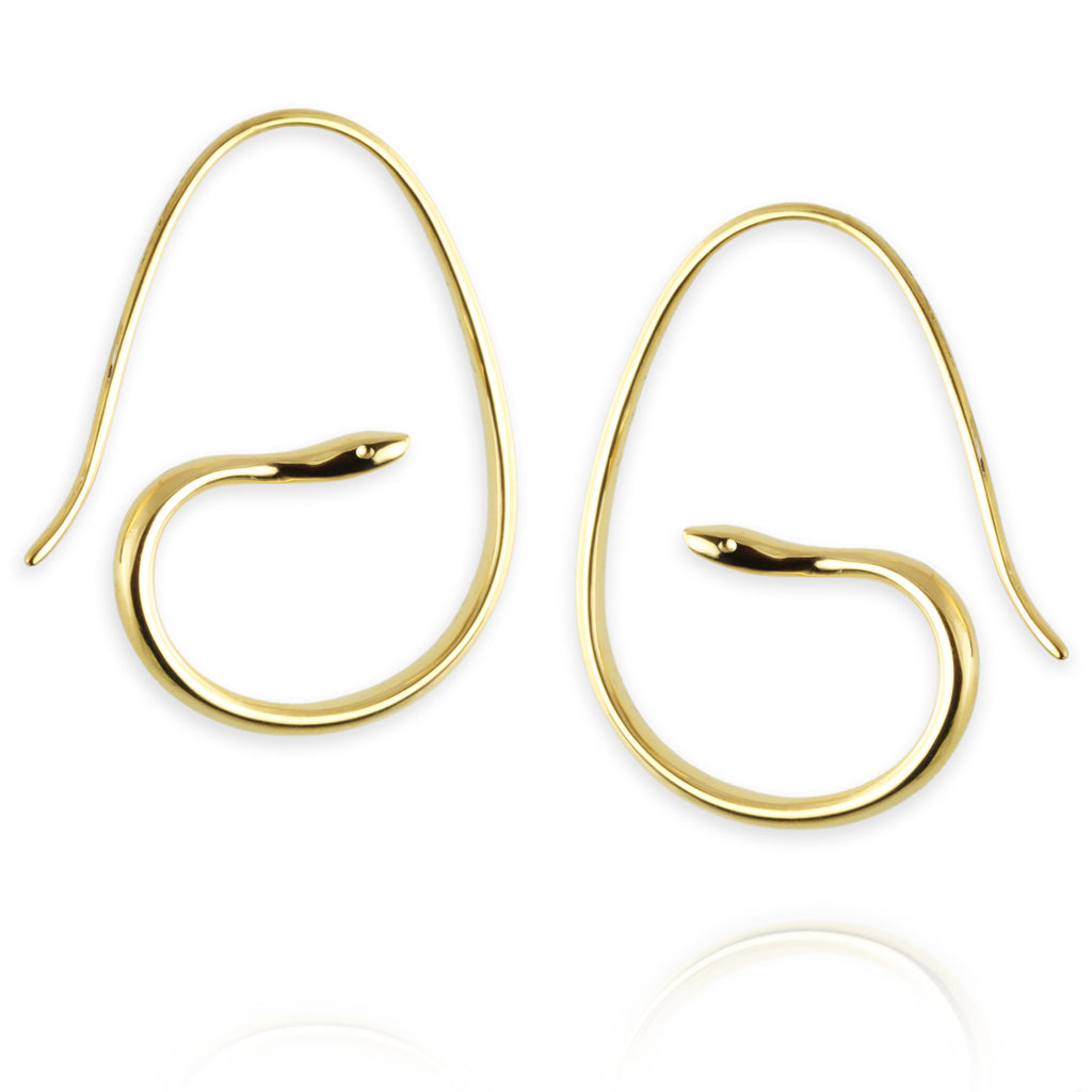 Snake Hoop Earrings - Jana Reinhardt Ltd - 1