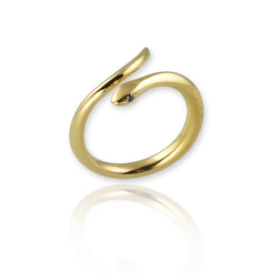Snake Ring with black diamonds - Jana Reinhardt Ltd - 4
