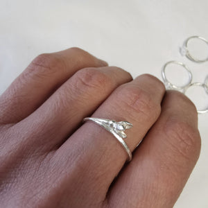 Snowdrop Ring - January Birth Flower Ring