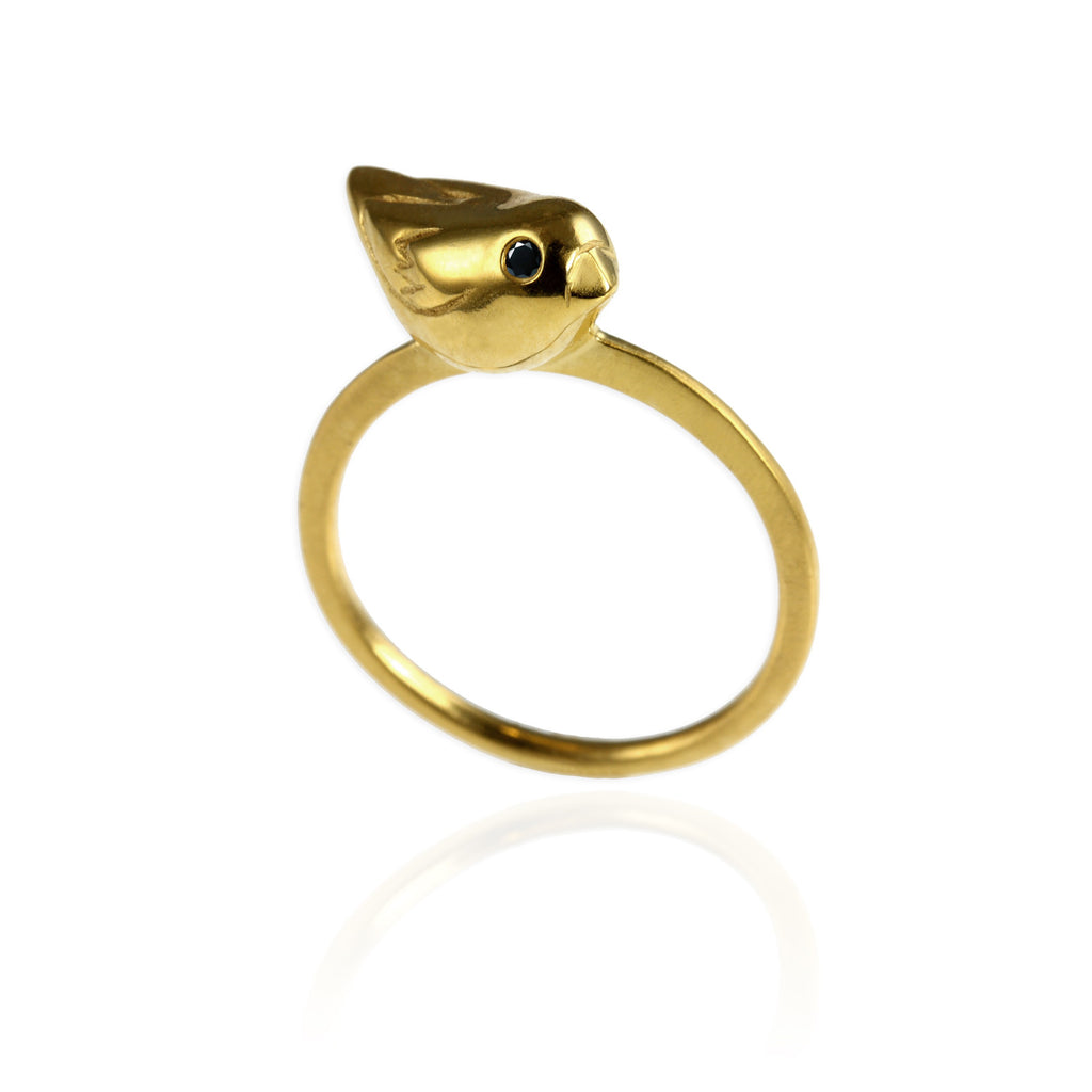Golden Sparrow Ring size P