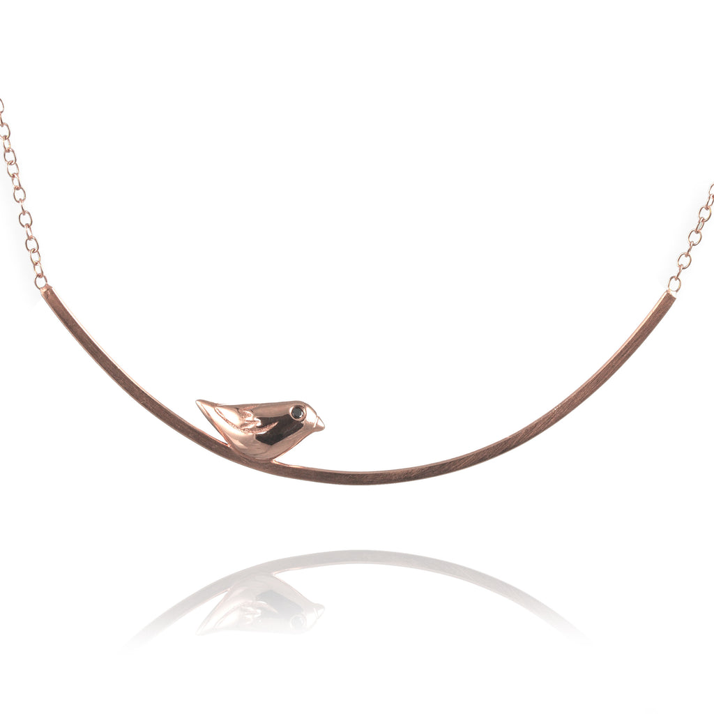 Sparrow on a Branch Necklace