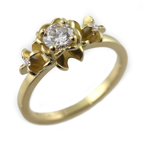 Trilogy Flower Engagement Ring