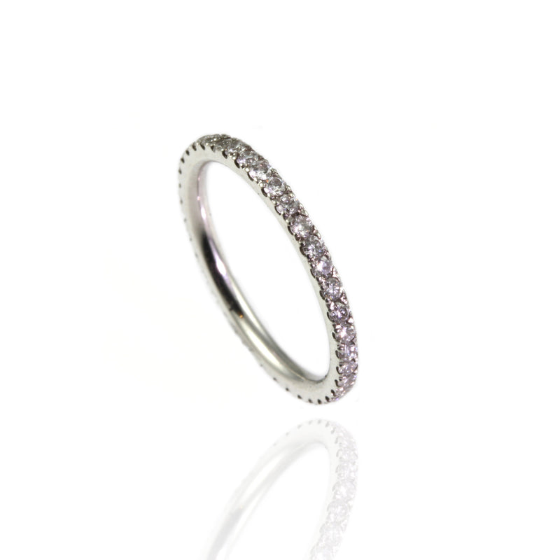 Platinum and Diamonds Tiny Eternity Ring