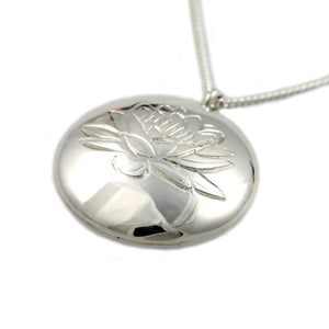 Sterling Silver Water Lily Pendant