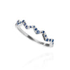 Flash Ring with Sapphires - slimmer version