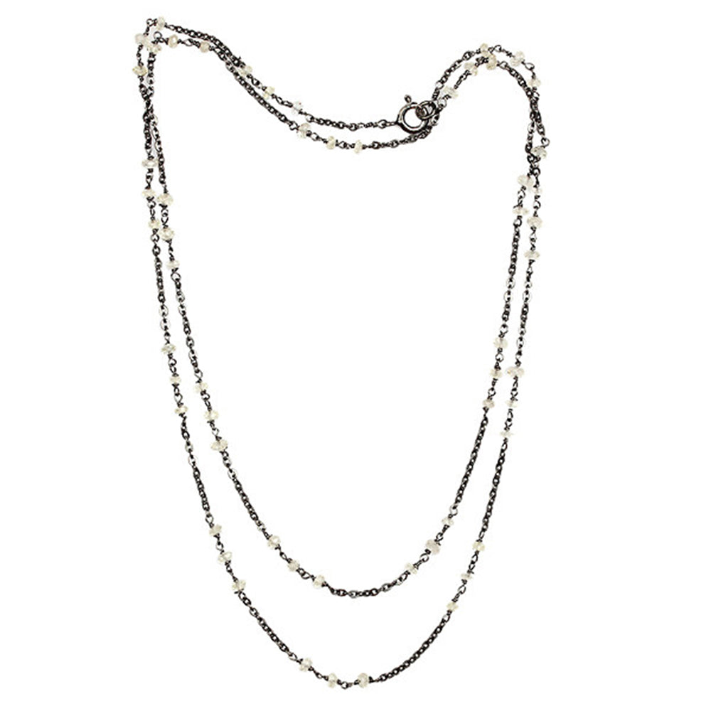 925 Sterling Silver Lemon Quartz Gemstone Matinee Chain Necklace Jewelry - Mettlle