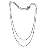 925 Sterling Silver Lemon Quartz Gemstone Matinee Chain Necklace Jewelry