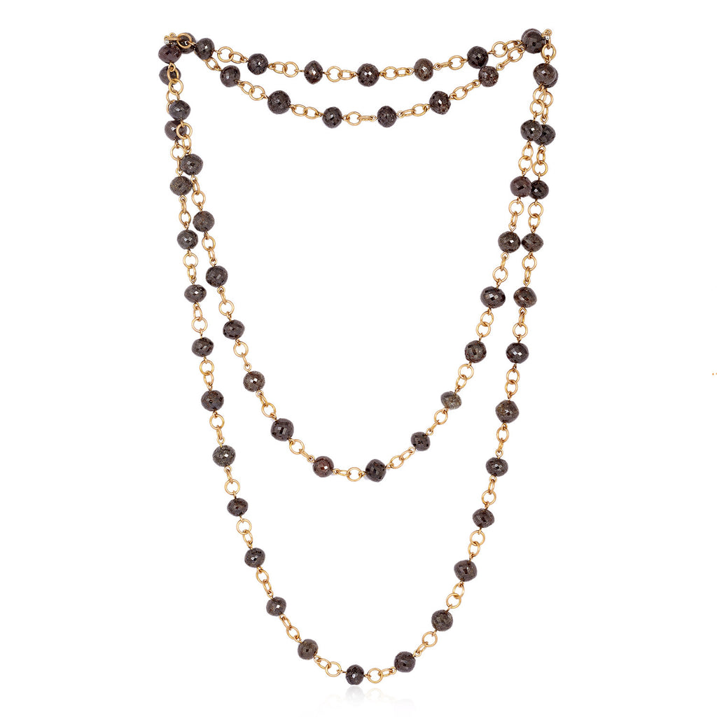 Women Rose Gold Diamond Rope Chain Necklace - Mettlle