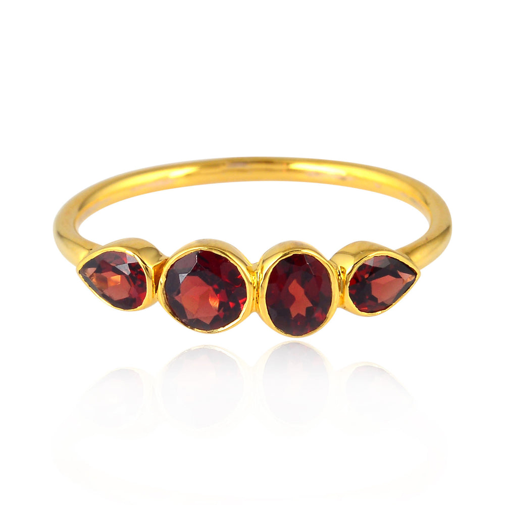 14kt Gold Garnet Ring for Women January Birthstone Jewelry