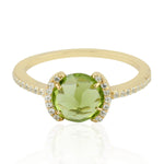 Single Peridot Stone Ring August Birthstone Jewelry