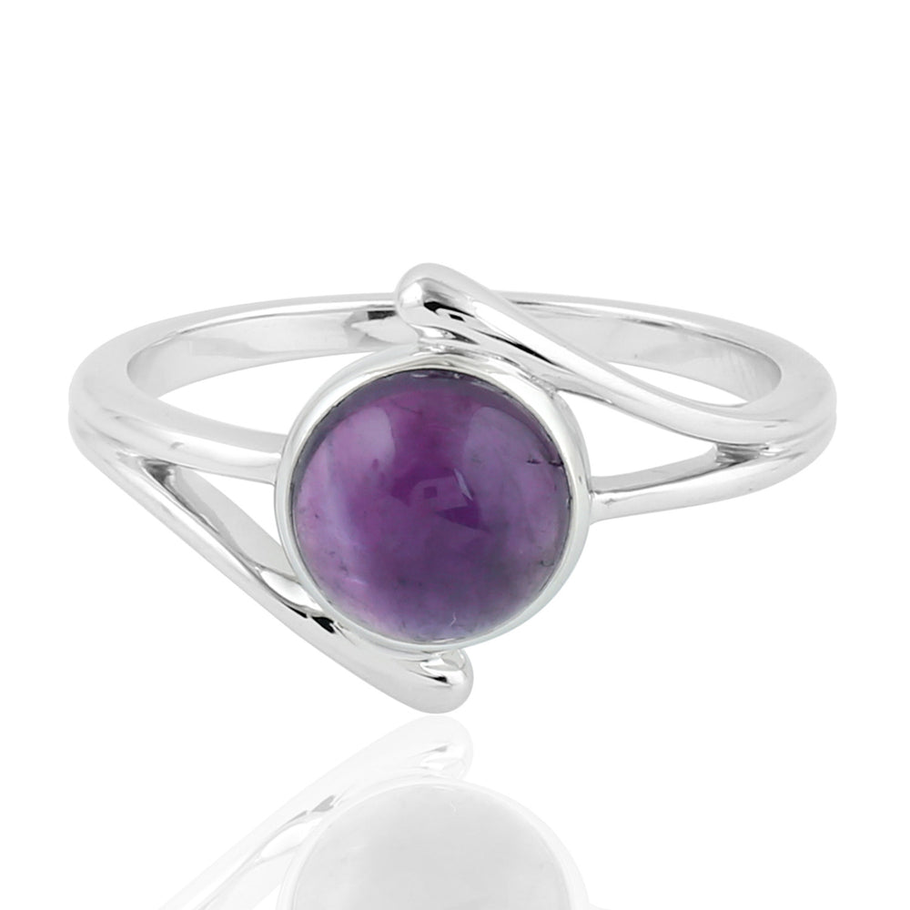Valentine Gift 2.2ct Natural Amethyst Cocktail Ring 925 Sterling Silver Jewelry February Birthstone Jewelry