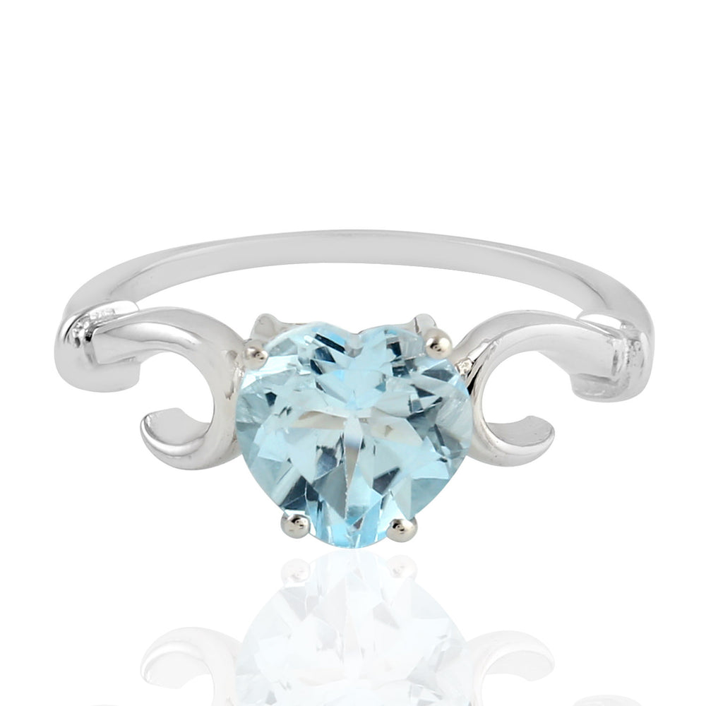 925 Sterling Silver Topaz Cocktail Ring November Birthstone Jewelry