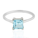 925 Sterling Silver Topaz Ring November Birthstone Jewelry