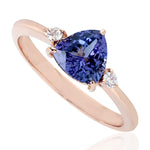 Gold 14Kt   1.47 Ct Tanzanite Ring December Birthstone Jewelry