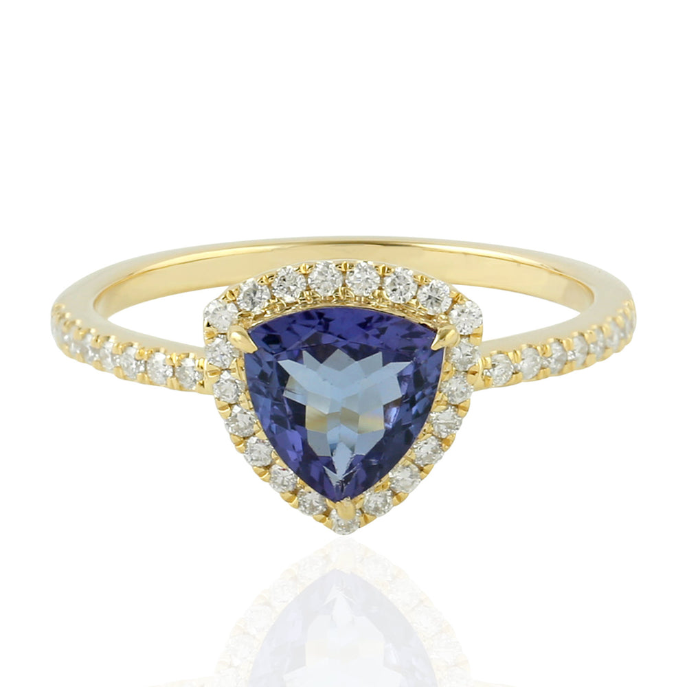 Gold 14Kt  0.27 Ct Diamond  Tanzanite Ring December Birthstone Jewelry