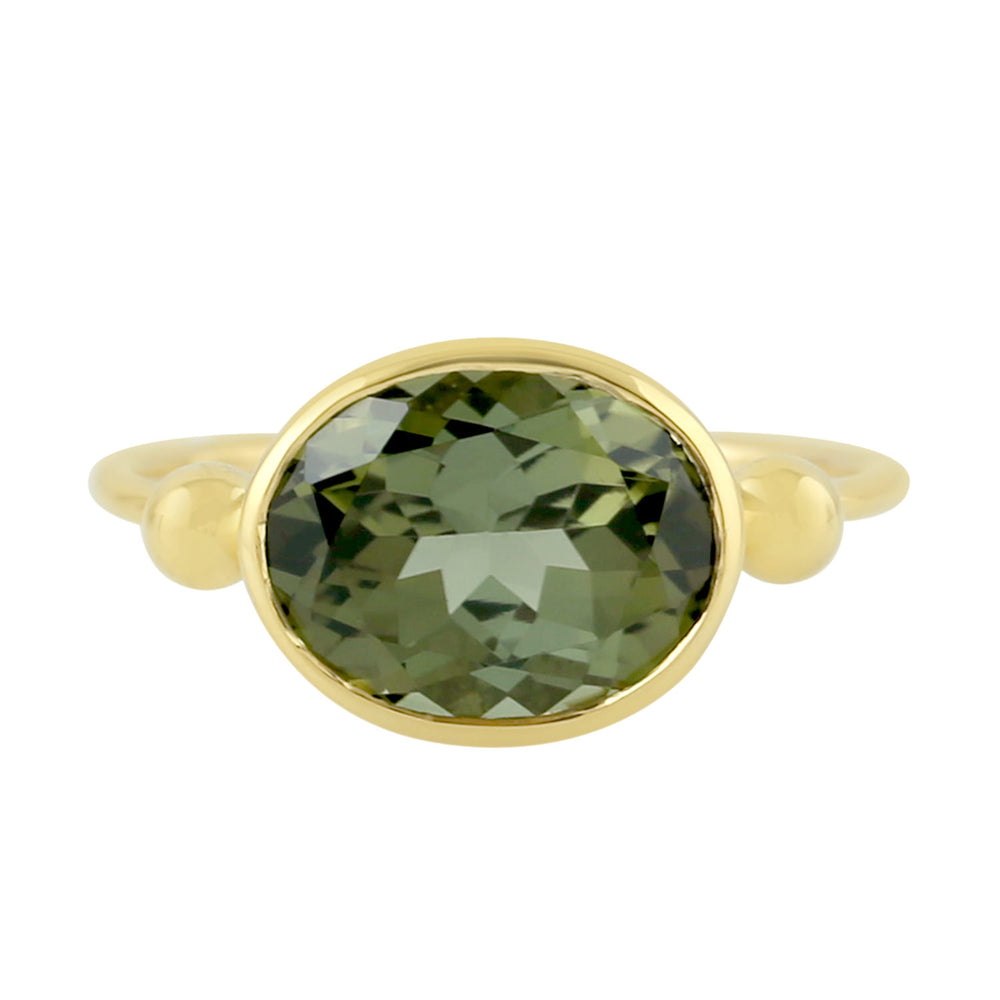 2.68ct Natural Tourmaline Cocktail Ring 9k Yellow Gold Jewelry