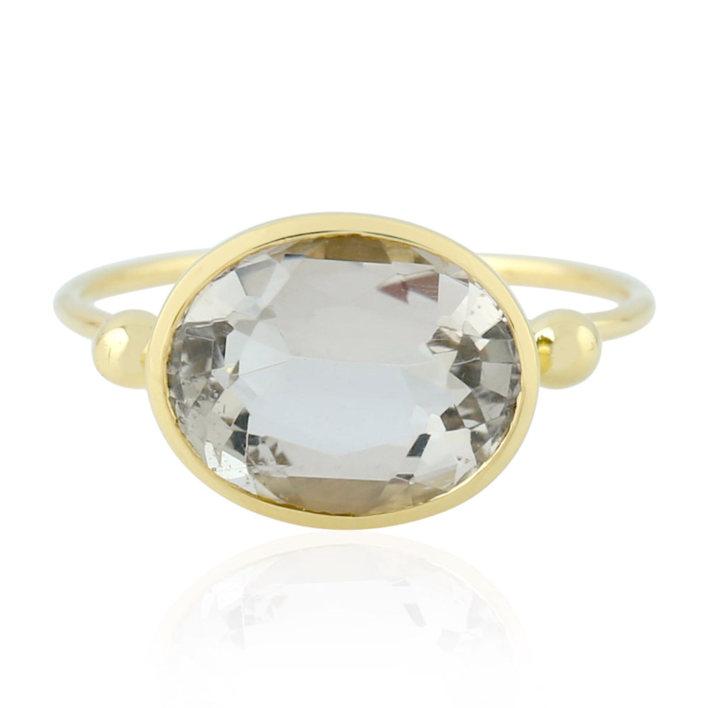 3.81ct Natural Tourmaline Cocktail Ring 9k Yellow Gold Jewelry