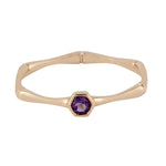 Valentine Sale 0.15ct Natural Amethyst Band Ring 10k Rose Gold Jewelry February Birthstone Jewelry