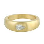 0.34ct Natural Diamond Band Ring 18k Yellow Gold Jewelry