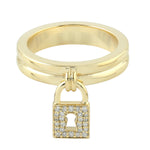 0.14ct Natural Diamond Band Ring 14k Yellow Gold Diamond Jewelry Size-6.5