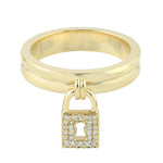 0.14ct Natural Diamond Band Ring 14k Yellow Gold Diamond Jewelry