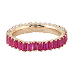 1.89ct Natural Ruby Band Ring 18k Rose Gold Jewelry